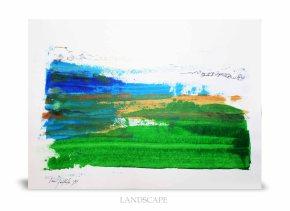 Landscape - Acrylic on paper.