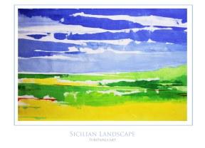 Sicilian Landscape 50x70 cm - SOLD