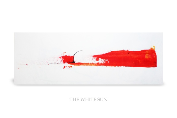 The Withe sun. Acrylic on paper.